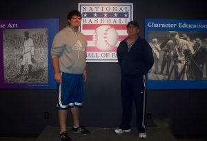 My dad and I at the Hall of Fame in 2008.